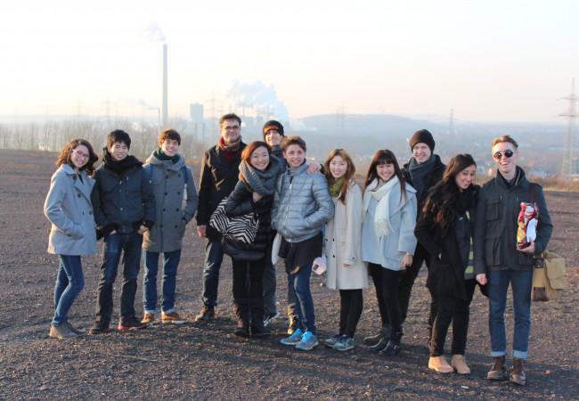 Das NRW Juniorballett auf Exkursion im Ruhrgebiet.