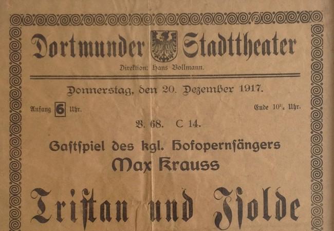 """""""Tristan und Isolde"""" 1917 in Dortmund"""